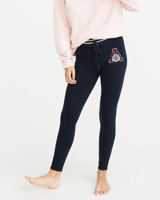 Abercrombie & Fitch Varsity Logo Fleece Leggings