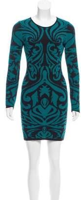 Torn By Ronny Kobo Pattern Knit Mini Dress