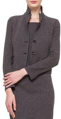 Akris Cashmere-Blend Herringbone Jacket $3,990 thestylecure.com