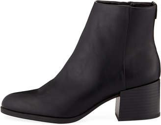 Sam Edelman Jennifer Low Heel Faux-Leather Booties