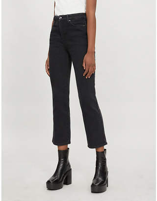 Good American Good Curve high-rise straight-leg jeans