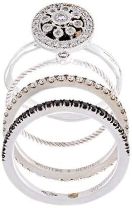 Wouters & Hendrix Gold diamond set of 4 rings