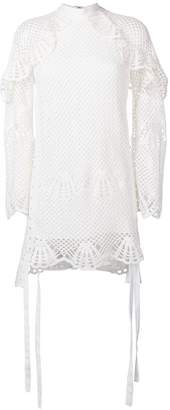 Self-Portrait scalloped netted shift dress