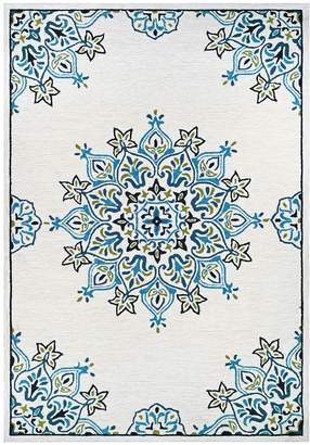Couristan Rugs Covington Mystic Garden Indoor/Outdoor Hand-Hooked Rug