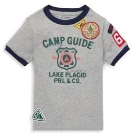 Ralph Lauren Little Boy's Camp Guide Patch Ringer Tee
