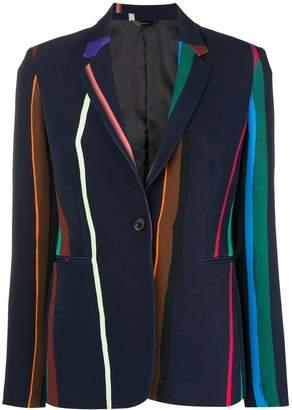 Paul Smith Black Label striped bomber jacket
