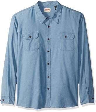 Wrangler Men's Big-Tall Authentics Big & Tall Long Sleeve Classic Woven Shirt