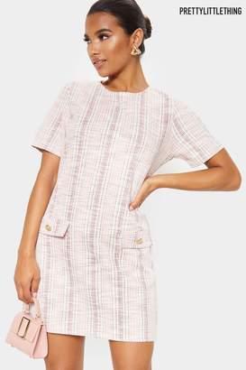PrettyLittleThing Womens Boucle Shift Dress - Pink