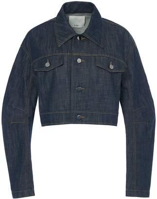 Tibi Raw Denim Cropped Jacket