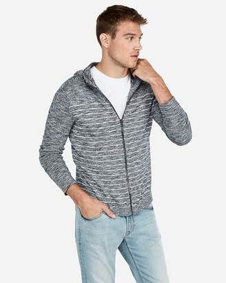 Express Striped Full Zip Hooded Cardigan
