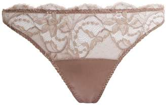 Fleur of England Floral-lace and satin briefs