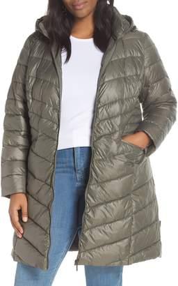 Halogen Hooded Puffer Jacket