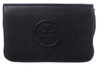 Tory Burch Bombe Leather Flap Clutch