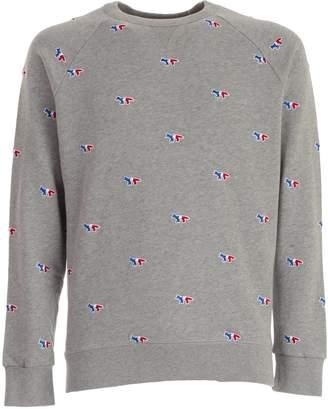 MAISON KITSUNÉ Embroidered Logo Sweater