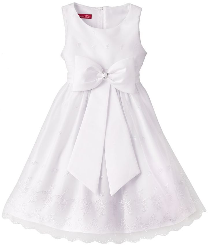 Princess faith floral embroidered dress - girls 7-16 3