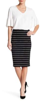 Catherine Malandrino Paneled Ponte Pencil Skirt