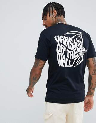 Vans t-shirt with back print in black VN0A3HQZBLK1