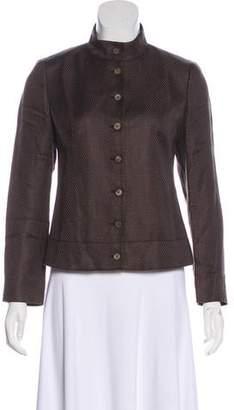 Lafayette 148 Linen-Blend Button-Up Jacket