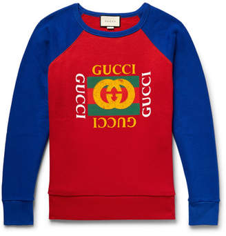 Gucci Printed Loopback Cotton-Jersey Sweatshirt