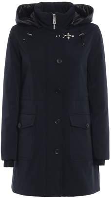 Fay Padded Hooded Trench Coat