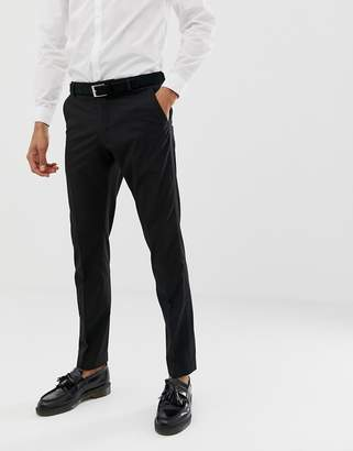 Selected tuxedo suit pants in slim fit