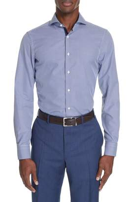 Canali Slim Fit Dot Dress Shirt