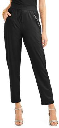 Laundry by Shelli Segal French Women's Zip Pocket Pull-On Pants