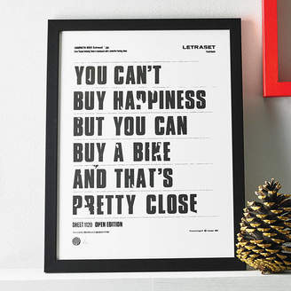 Anthony Logistics For Men Oram 'You Can't Buy Happiness' Screen Print