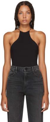 Alexander Wang Black Compact Jersey Halter Bodysuit