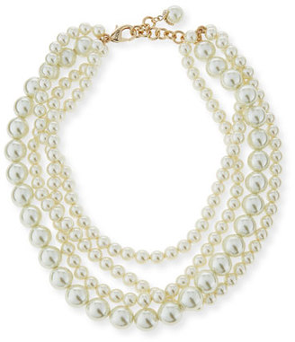 "Lulu Frost Simulated Pearl Multi-Strand Necklace, 16"" $350 thestylecure.com"