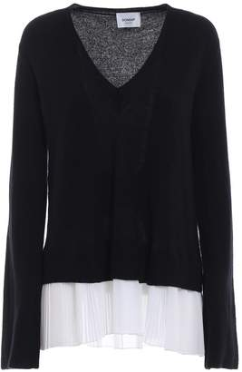 Dondup Pleated Bottom Merino And Cashmere Sweater
