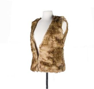 Luxe Faux Fur FAUX FUR VEST - RACCOON SIZE L
