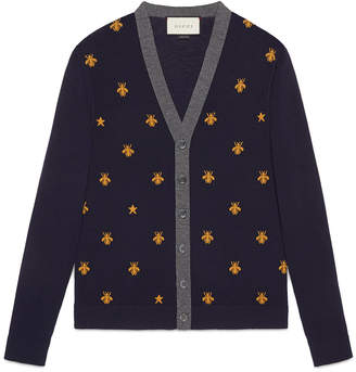 Wool cardigan with bees and stars $880 thestylecure.com