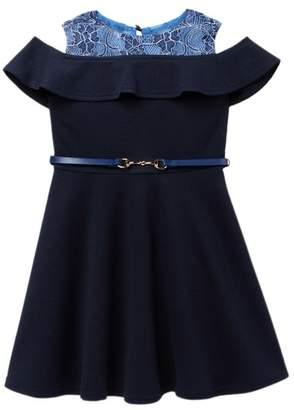 Little Angels Off The Shoulder Textured Knit Dress (Toddler Girls)