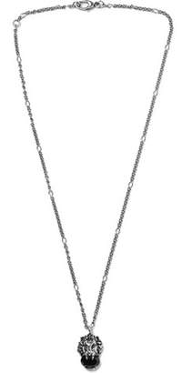 Gucci Burnished Silver-Tone Swarovski Crystal Necklace - Men - Silver