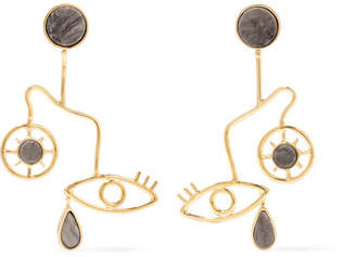 Paola Vilas - Mobile Gold-plated Granite Earrings