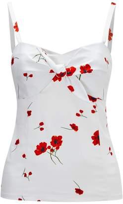 Joe Browns Floral Print Shoestring Strap Vest Top