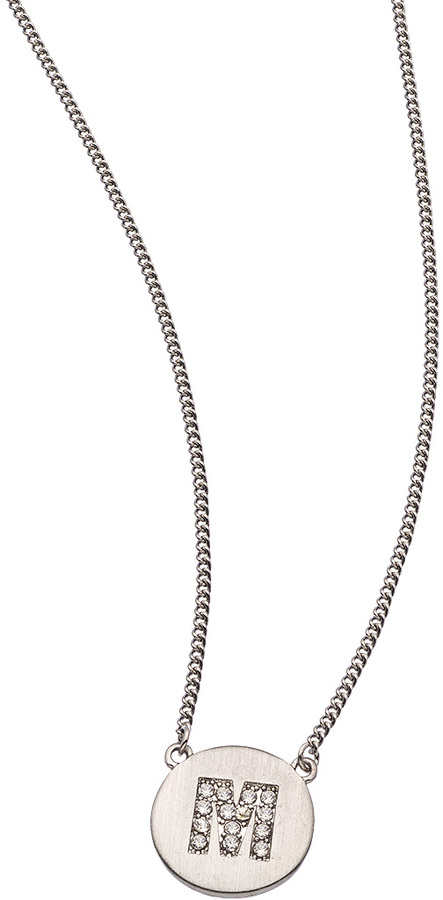 Blu Bijoux Silver Initial Pendant Necklace
