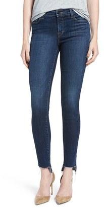 Women's J Brand '811' Cutoff Step Hem Skinny Jeans $198 thestylecure.com