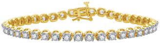 EVER STAR Ever Star 3 CT. T.W. Lab Grown White Diamond 10K Gold Round Tennis Bracelet