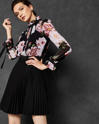 Ted Baker DAYSEA Iguazu frill bow sleeve dress