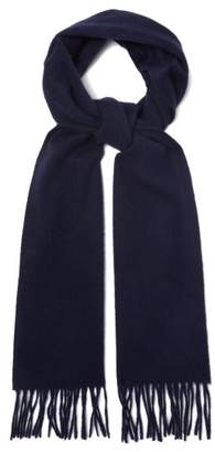 Paul Smith Fringed Cashmere Scarf - Mens - Navy