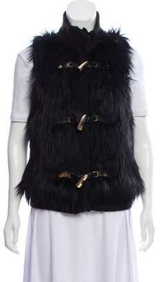 MICHAEL Michael Kors Faux Fur Knit Vest