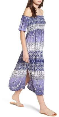 Raga Luana Off the Shoulder Midi Dress