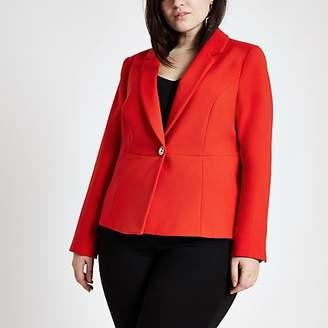 River Island Plus red long sleeve blazer