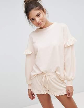 Hunkemoller Simplicity Lounge Ruffle Sweater
