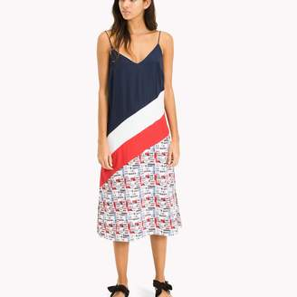 Tommy Hilfiger Diagonal Colorblock Dress