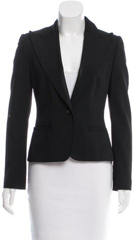 Dolce & GabbanaDolce & Gabbana Virgin Wool Single-Button Blazer