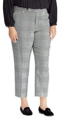 Lauren Ralph Lauren Plus Glen Plaid Skinny Pants
