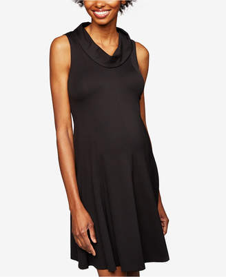 Taylor Maternity Collared A-line Dress